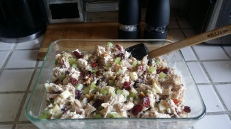 Chicken apple cranberry walnut salad...